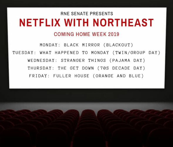 Netflix with northeast: Coming Home Week