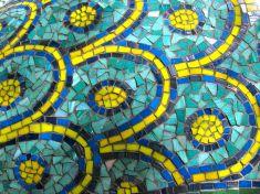 Barra' mosaic scale detail