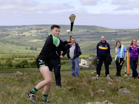 Donal McKernan of Sarsfields on his way to winning the 2015 Under 16 title. He later went on to win the All Ireland title in the Cooley Mountains near Dundalk