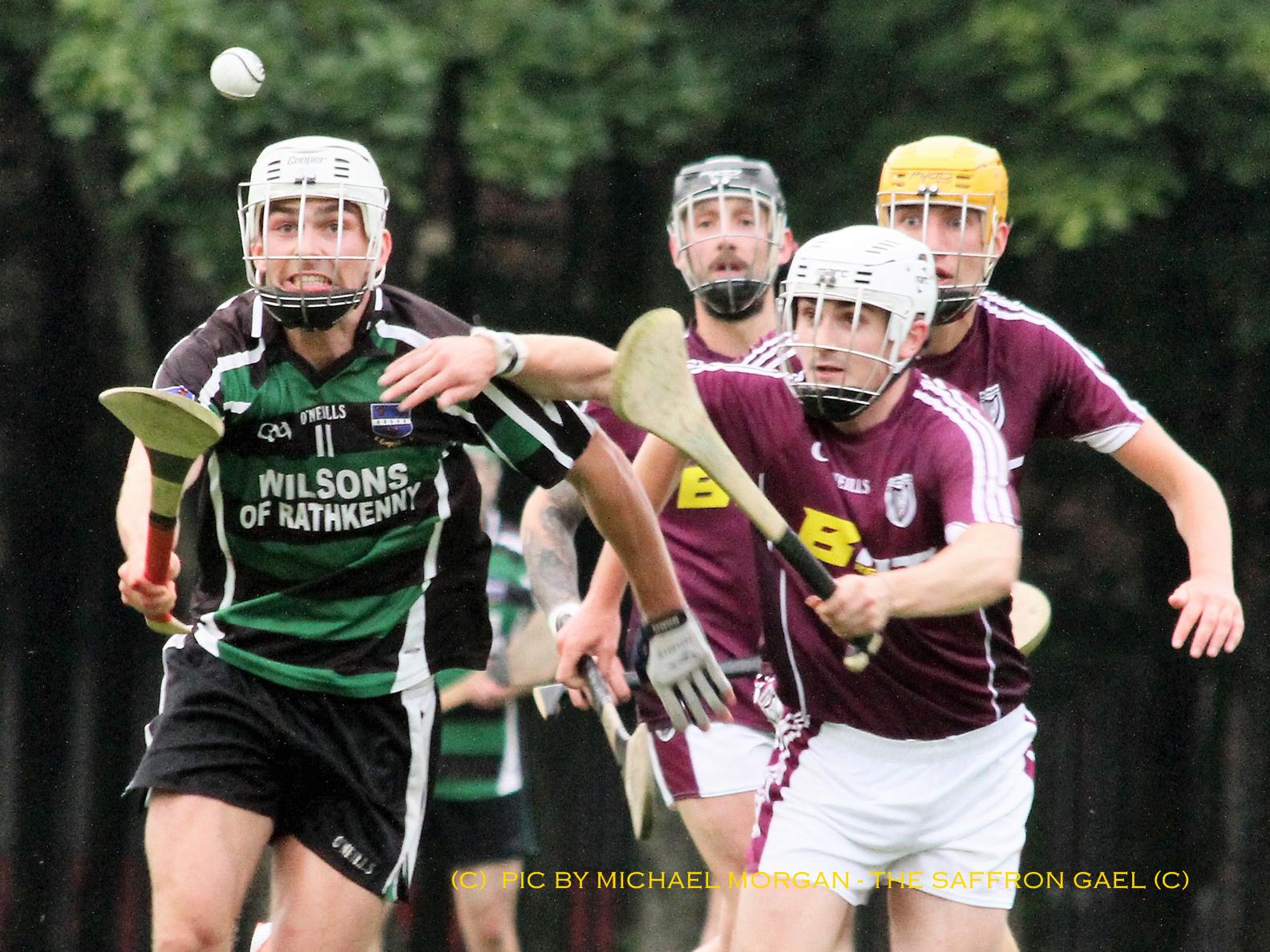Cushenun's Matthew McCartin in action against Bredagh