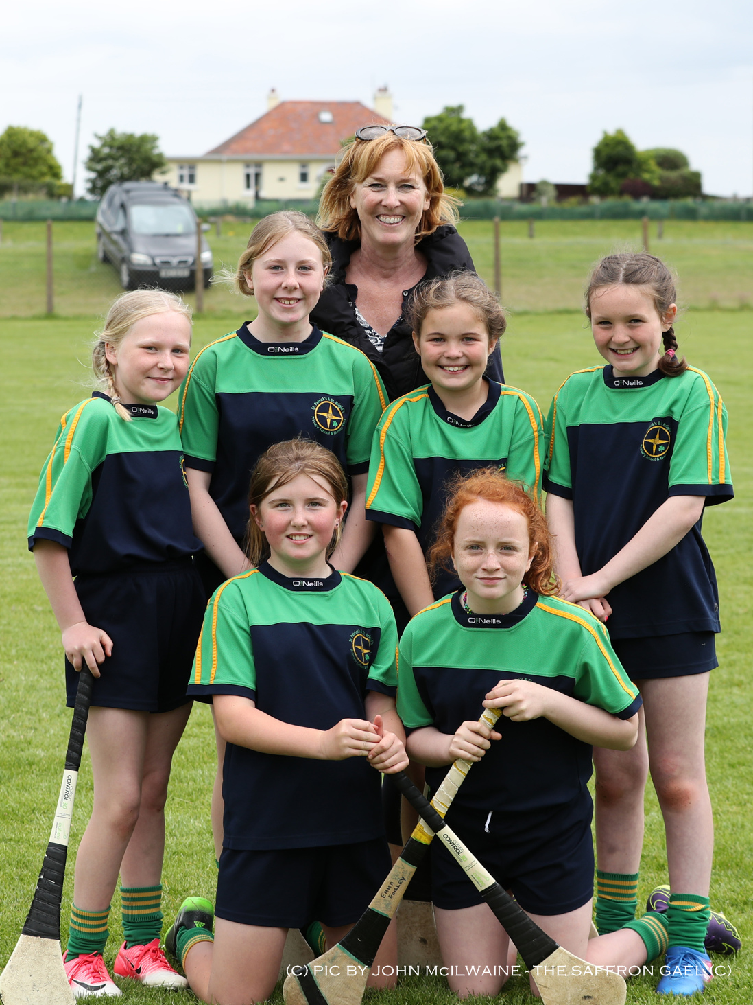St Patrick's & St Brigid's Ballycastle who won the team camogie section