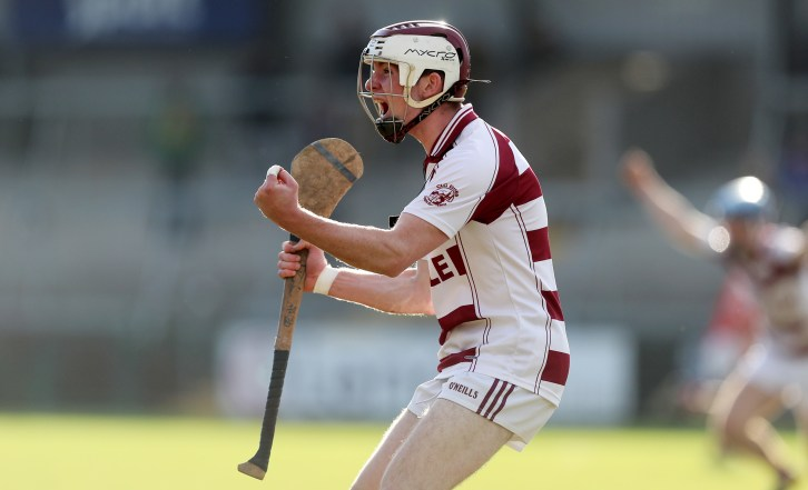 Press Eye Northern Ireland - October 23rd 2016 AIB Ulster Club Senior Hurling Final Slaughtneil v Loughgiel at the Athletics Ground, Armagh Mandatory credit - Pic by John McIlwaine-Press Eye Slaughtneil's Conor McAllister celebrates at the final whistle