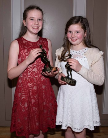 Pictured are Aine Kelly (u12 player of the year) and Grace O'Neill (most improved player of the year).