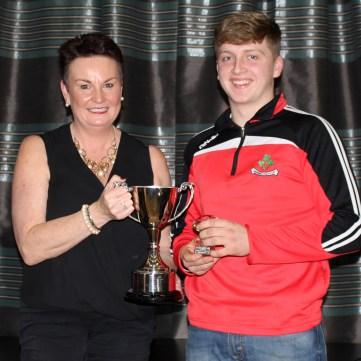 U16 POY Enda Og McGarry with Karen McCormick