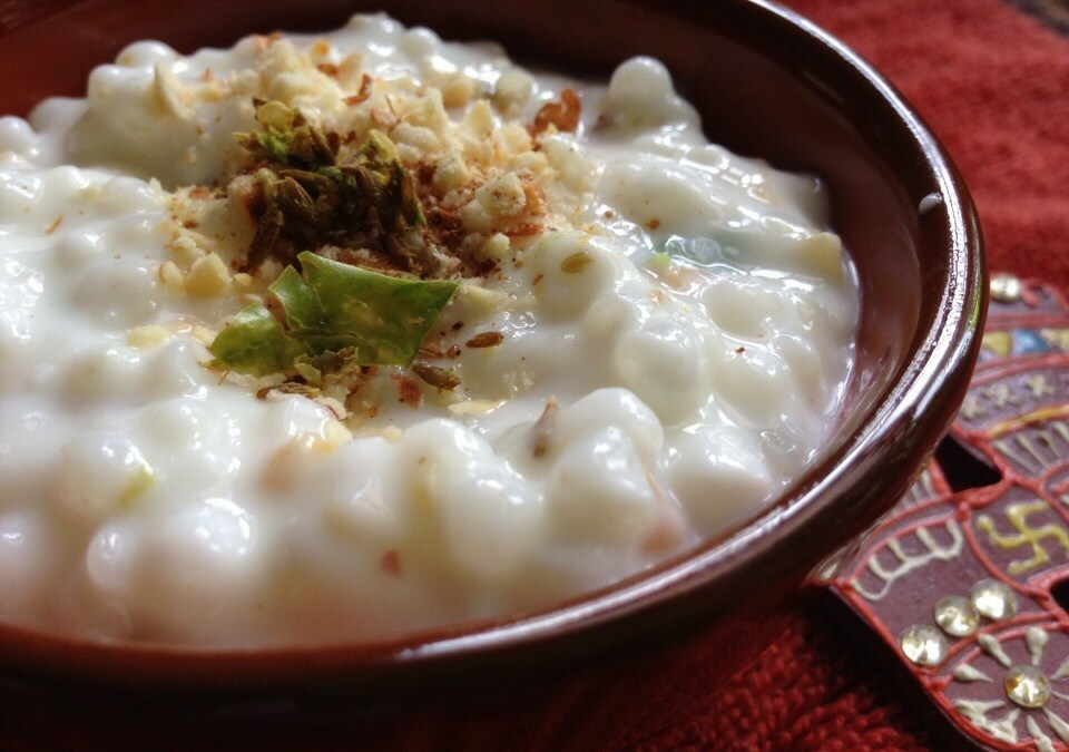 Dahi Sabudana- tapioca pearls with spiced yogurt