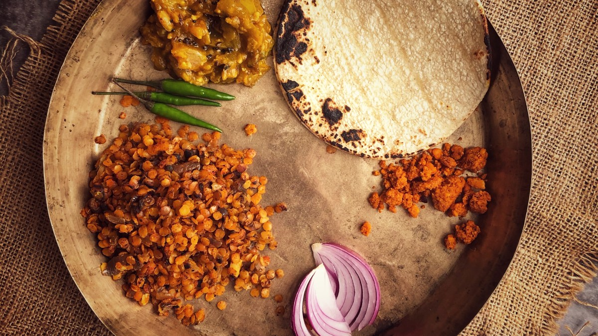 Pendpala- a dry masoor daal curry