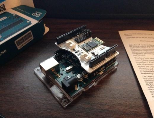 Arduino UNO + Bluetooth Shield