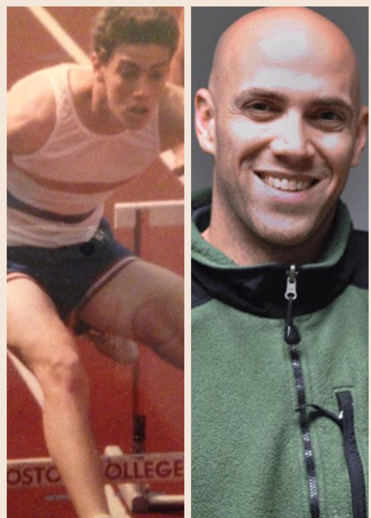 Alumnus+social+worker+Paul+Epstein+%2791+running+track+for+the+high+school+as+a+student+%28left%29+and+today+%28right%29.+