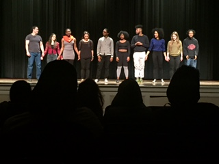 The Central Square Theater group, starring in the short play