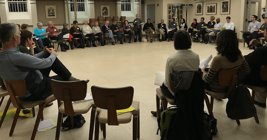 Town+residents+gathered+in+Temple+Sinai+Nov.+30+to+discuss+measures+to+reach+racial+equality+through+policy+and+local+government.+