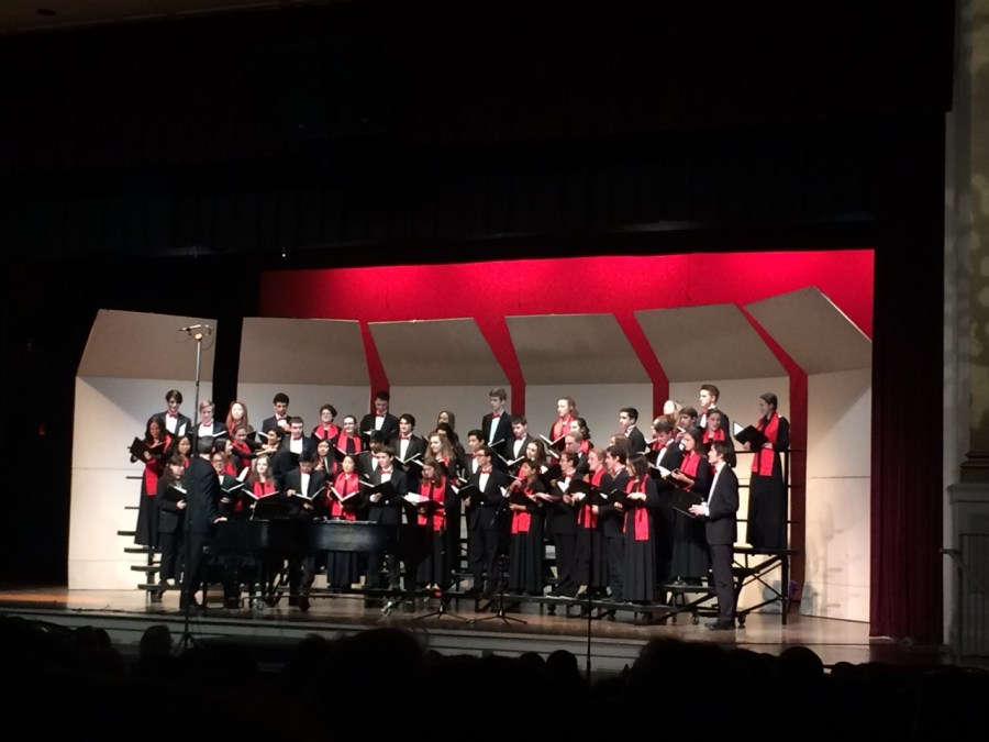 The+high+school%27s+Camerata+choir+delighted+the+audience+with+their+jovial+songs.+Camerata+is+just+one+of+the+talented+musical+groups+that+performed+at+the+Winter+Concert.+CONTRIBUTED+BY+ESTHER+PRONOVOST