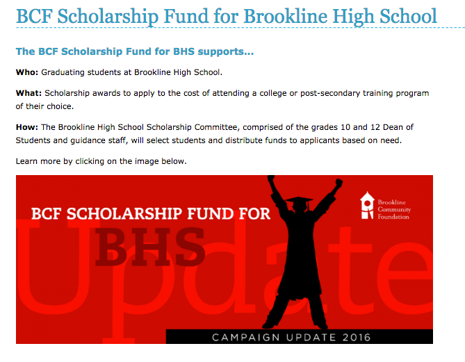 The+high+school+awards+many+scholarships+via+the+BHS+Scholarship+Fund+%28website+pictured+above%29+to+seniors+with+unmet+financial+need.+According+to+Dean+of+Students%2C+grades+10+and+12%2C+Scott+Butchart+around+1%2F3+of+the+senior+class+applied+for+scholarships.+++