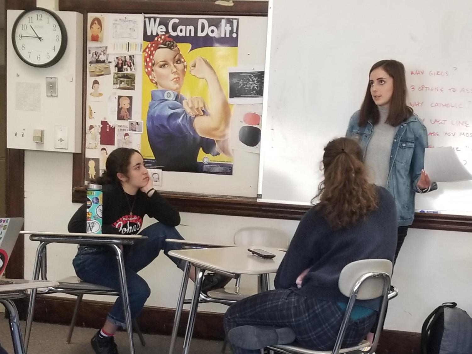 Club members engage in difficult conversations during meetings.