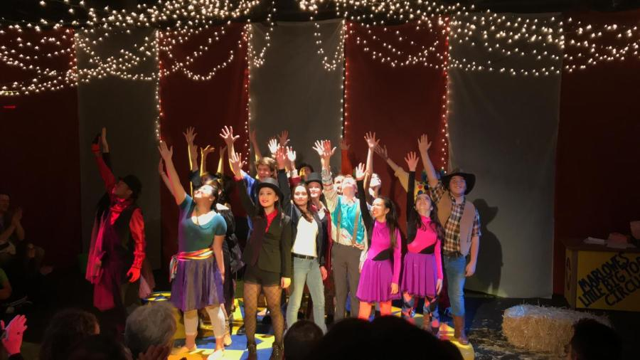 The+cast+of+the+2018-2019+Freshman+Play+performing+their+epic+finale