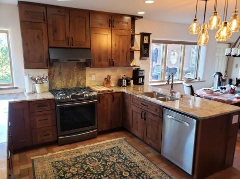Alder Kitchen with Granite counters