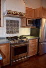 Custom Alder Wood Kitchen with Zinc Counters.
