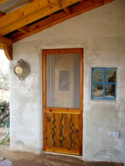 Custom screen door.