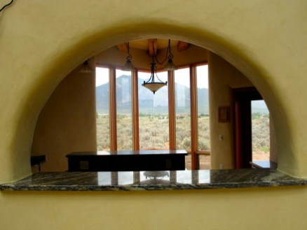 Archway from Atrium into the Kitchen.