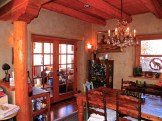 Dining Room French Doors leading to screened in porch.