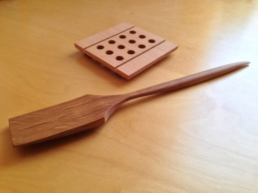 Douglas Fir tivet and reclaimed oak utensil, made by The Shop.
