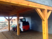 Final grading in new Carport.