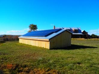 Donkey Shed with solar panels.