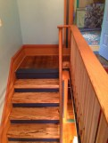 Oak and Maple railing with Spalted Maple stair treads.