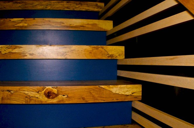 Spalted Maple stair detail.