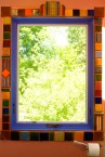 Window with Pewabic tile trim.