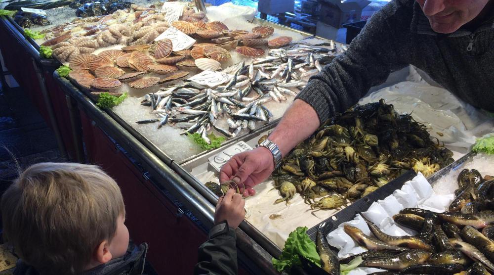 Venedig mit Kindern - Fischmarkt Detail