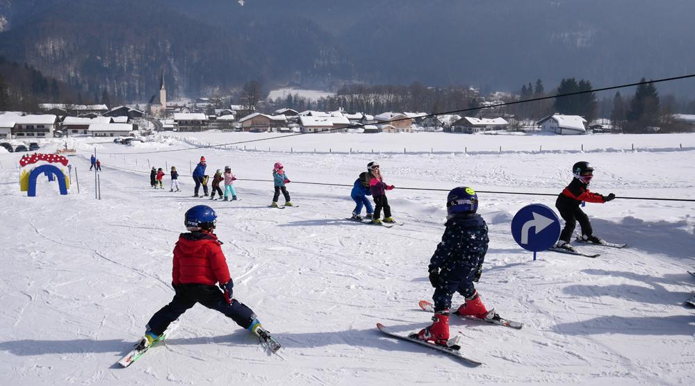 Skikurs - Am Seillift