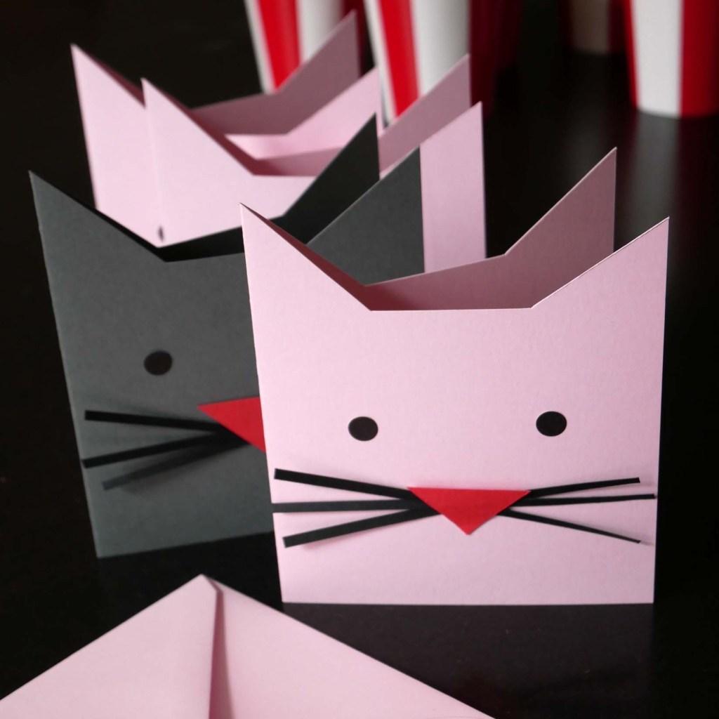 Katzenparty - Einladungen