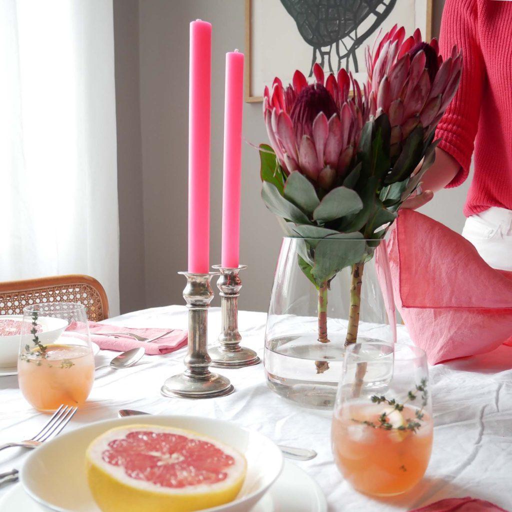 Coral & Citrus - Protea statt Tulpen und Co.