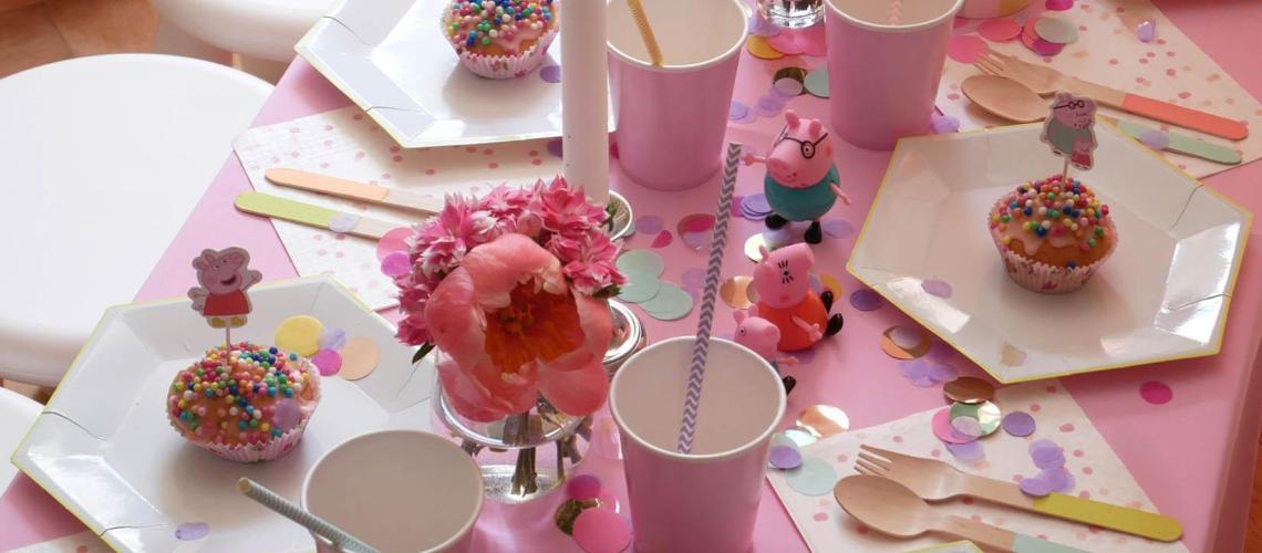 Teatime with Peppa – 3. Geburtstag in schweinchen-rosa