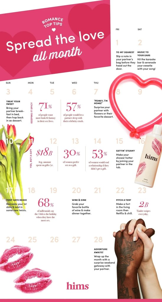 Romance Tips - Spread the love during the entire month