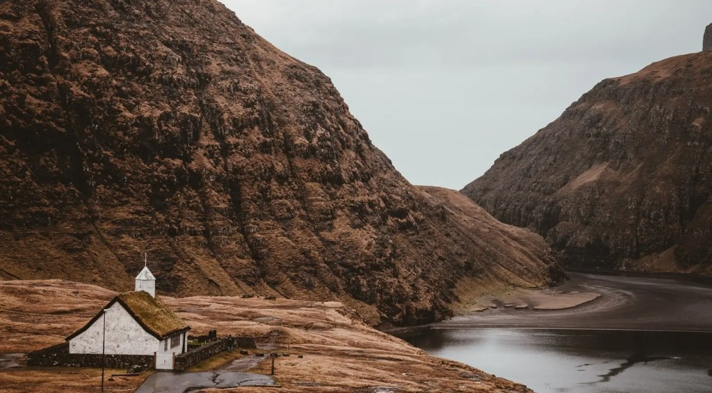 The Faroe Islands (remote destination with isolated building)