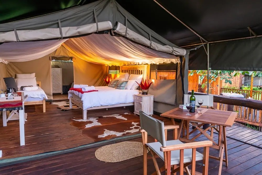 Glamping at Kingfisher Lakeside Retreat Tented Camp