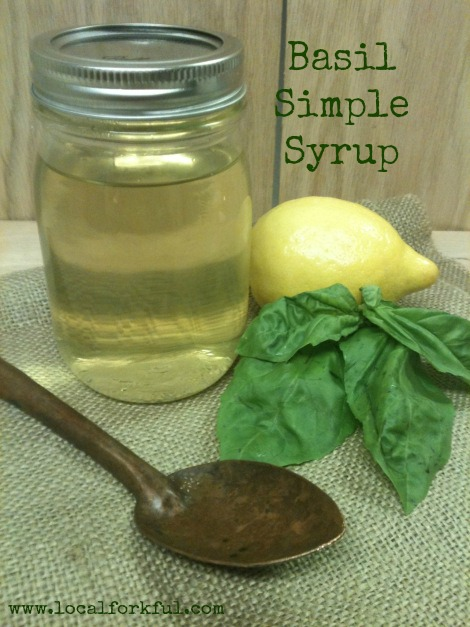 How to make Basil Simple Syrup: Recipe by The Local Forkful