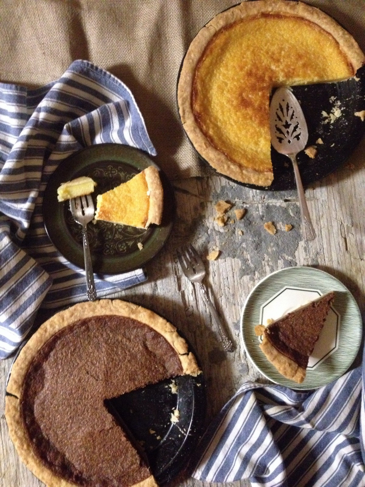 Homemade Buttermilk & Chocolate Buttermilk Pie