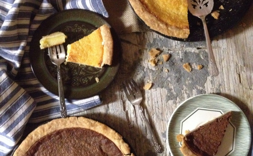 Homemade Buttermilk & Chocolate Buttermilk Pie