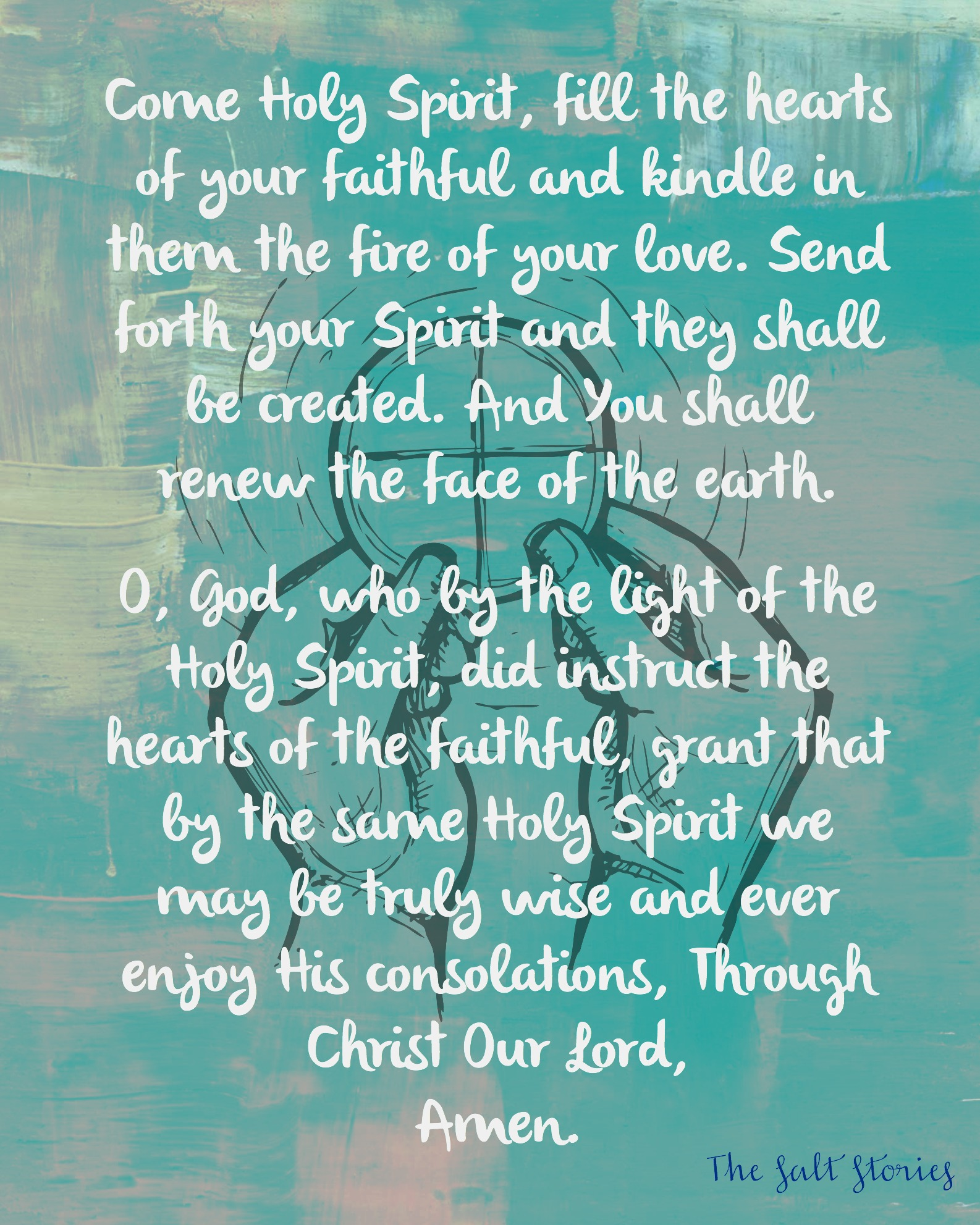 Dynamite image pertaining to come holy spirit prayer printable