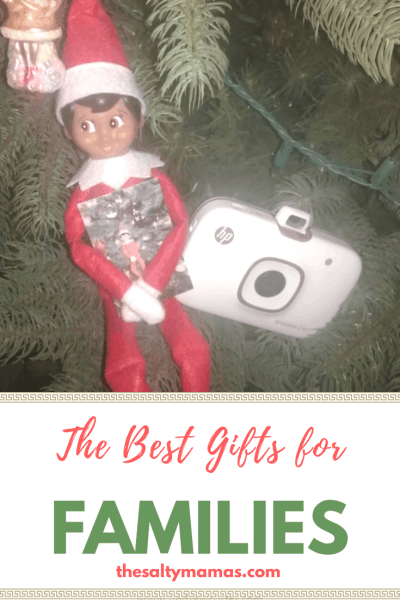 Instead of buying a ton of tiny gifts, considering buying a gift the whole family will love. The best gift ideas for families, from thesaltymamas.com.