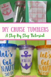 DIY Cruise Tumblers- A Step By Step Tutorial to Get You Ready for Your Girls' Trip in No Time, from thesaltymamas.com. #girlstrip #CruiseTumblers #CruiseCups #GirlsTripCups