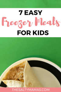 Looking for yummy lunch ideas for kids- that they'll actually eat? Try these 7 Easy Freezer Meals for Kids from TheSaltyMamas.com.