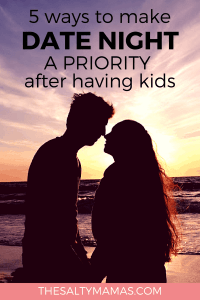 Afte kids, date night is more important than ever! Five tips to help! #datenight #datenightafterkids #datenightideas #easydateideas #cheapdateideas #datingwithkids #datingafterkids #dateyourhusband #howtodateyourhusband #maketimeforhusband #howtomaketimeforyourhusband #dating #fundatenight #easydatenight