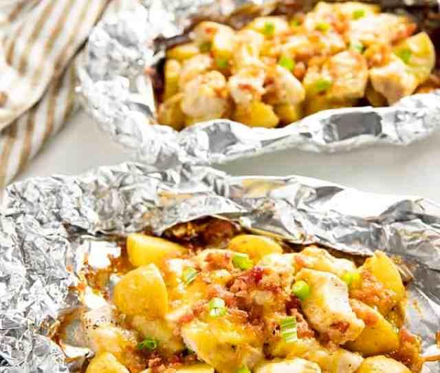 Chicken Foil Packets Bacon Ranch Potato