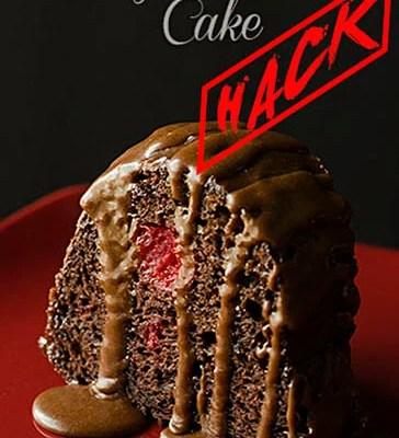 cherry chocolate cake hack