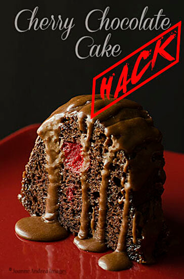 cherry chocolate cake hack