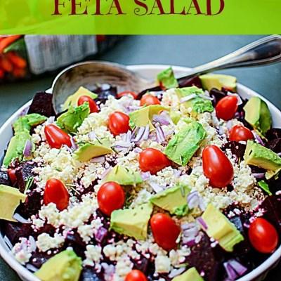 beet avocado and feta cheese salad
