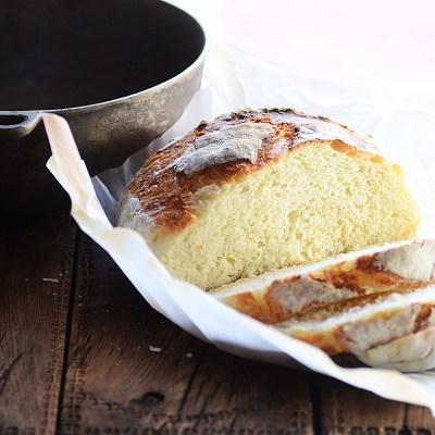 no knead crusty country bread